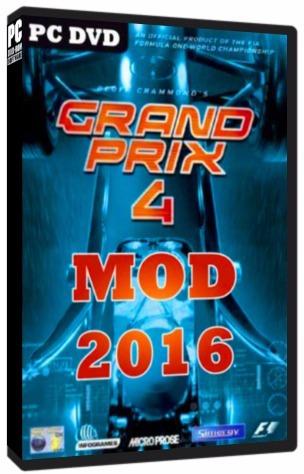 Grand Prix 4 (gp4) Mod 2016 F1 2016 - Pc Dvd - Frete 8 Reais