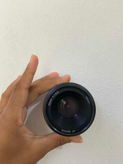 Lente Nikon 50mm F/1.8d Fx Af Nikkor Semi Nova