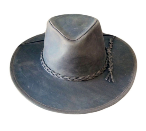 Sombrero Australiano Cuero Engrasado S077