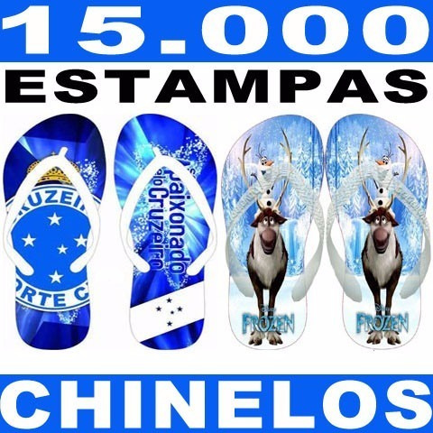 Chinelos Artes Prontas 15.000 Arquivos + Gabaritos Completos