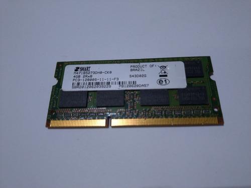 Imagem 1 de 2 de Memoria Smart P/notebook 4gb Ddr3 Pc3 12800s 1600mhz Origina