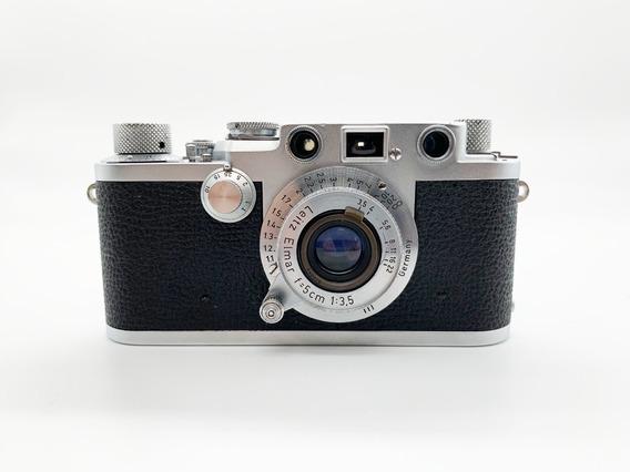 Câmera Leica Iiif Red Dial Com Lente Elmar 50mm F/3.5