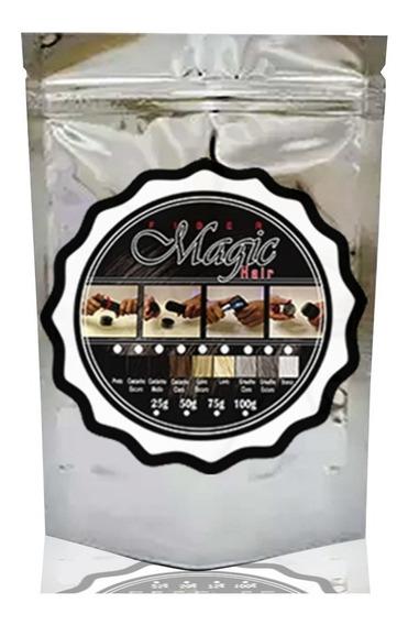 Refil Magic Hair 50g+ Toppik 27,5g+ Caboki+spray Fixador