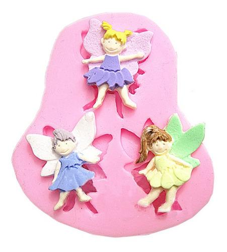 Imagen 1 de 4 de 3 Angel Elf Molde Del Chocolate Del Molde De Silicona Fondan