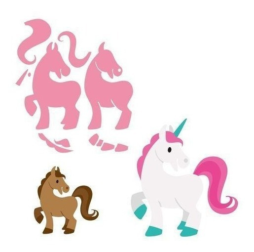 Suaje Cortar Papel Unicornio Caballo Troquel Invitacion Scra