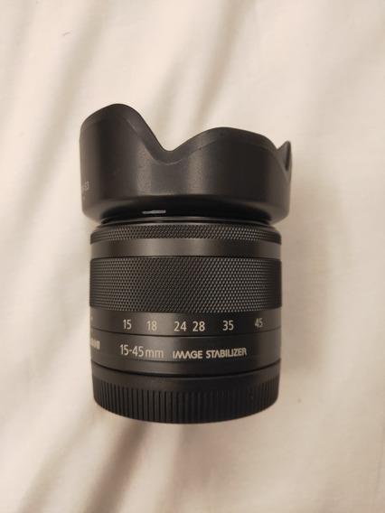 Lente Canon Ef-m 15-45mm, Zerada, Sem Uso