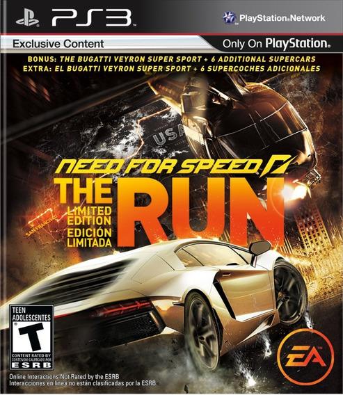 Neef For Speed The Run Ps3 Mídia Física