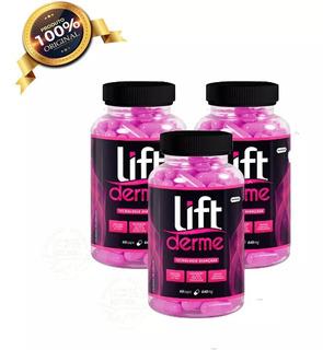 Lift Derme Colágeno Hidrolisado 3 Potes 60caps Cada Original