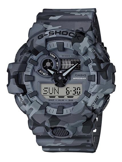Relógio Casio G-shock Masculino Camuflado Ga-700cm-8adr