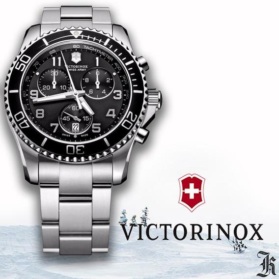Relógio Victorinox Swiss Army Maverick Chrono Aço 241695