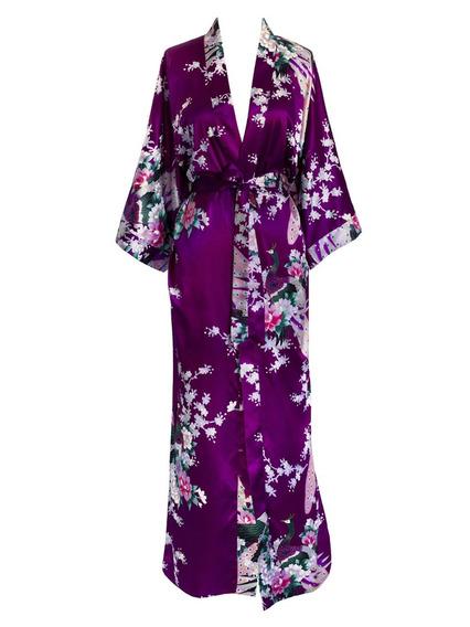 Kimono Largo Kimono Femenino De La Antigua Shangai - Pavo