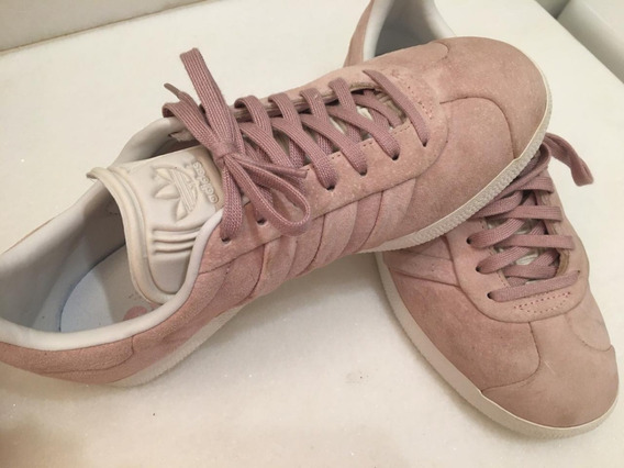 Tênis adidas Gazelle Stitch And Turn Camurça Rosa
