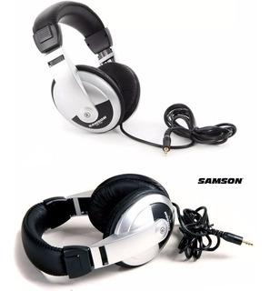 2 Auriculares Profesionales Estudio Samson Hp10 Lujo Dj