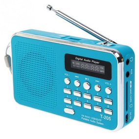 Rádio Receptor Luvin T-205 Digital Fm Cor Azul Frete Grátis