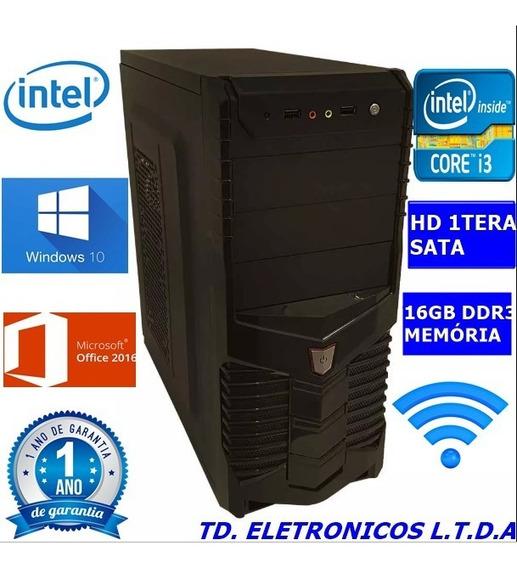 Cpu Completa Core I3 3g/16gb Ddr3 /hd 1000gb /wifi