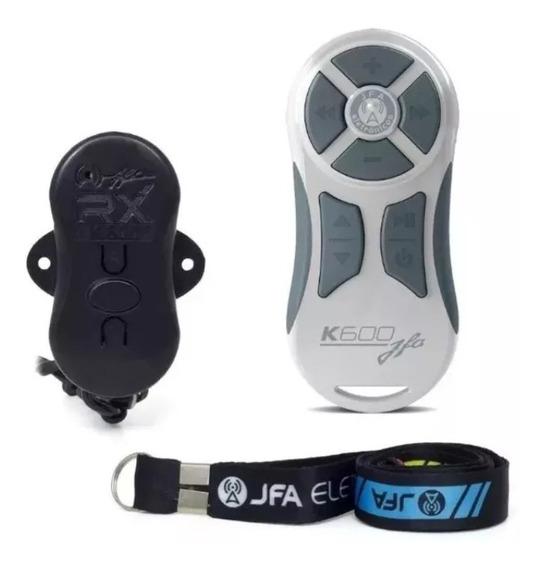 Controle Longa Distancia Completo Jfa Branco / Cinza K600