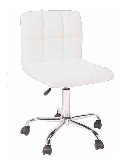 Silla Cubos Office Blanca Pu - Blanc Këssa Cdmx