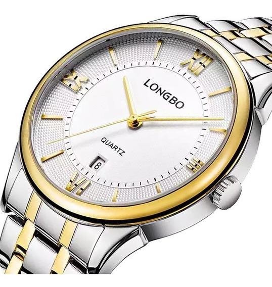 Relógio Longbo Masculino Clássico Luxo Social Original