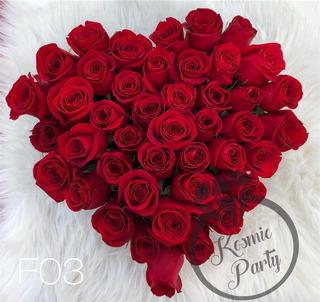 Arreglo De Flores Rosas Corazon 14 Febrero Guadalajara