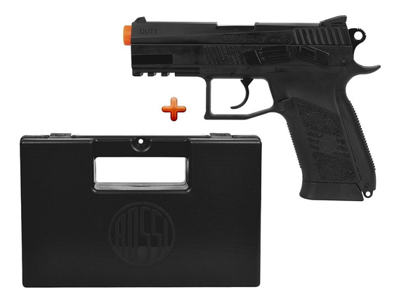 Pistola Airsoft Asg Cz 75 P-07 Duty Blowback + Maleta Rossi