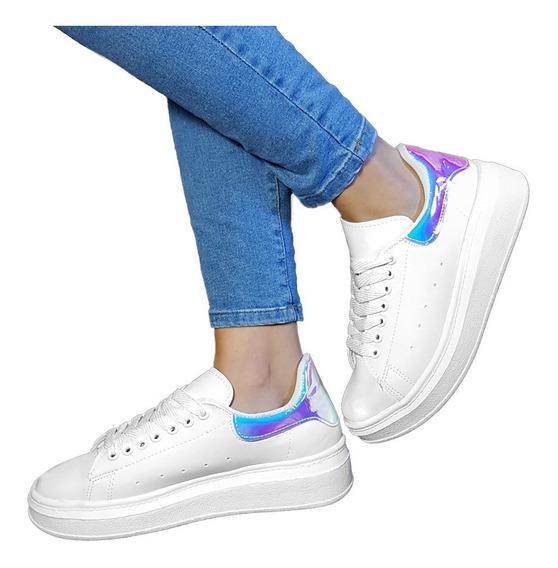 Zapato Zapatilla Mujer Sneaker Urbana Plataforma Queen