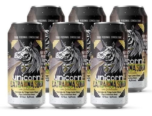 Cerveja Unicorn Catharina Sour Jabuticaba Caixa C/ 6 Latas 4