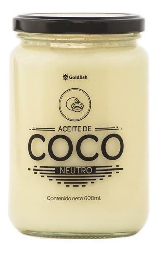 Aceite De Coco Neutro X 600 Ml Frasco Vidrio Goldfish