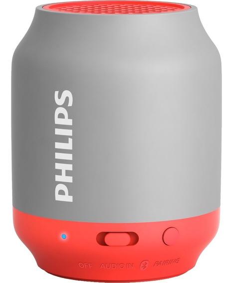 Caixa De Som Portátil Philips Bt50 Com Bluetooth - Vermelho
