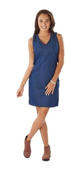 Vestido Casual Sin Mangas Azul Mezclilla 014446