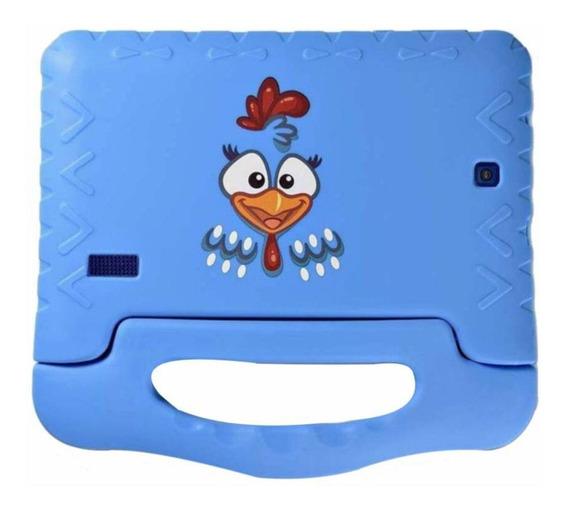 """Tablet Multilaser Galinha Pintadinha 7"""" 8GB azul com memória RAM 1GB"""