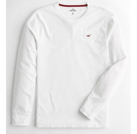 Camiseta Hollister Con Cuello Redondo