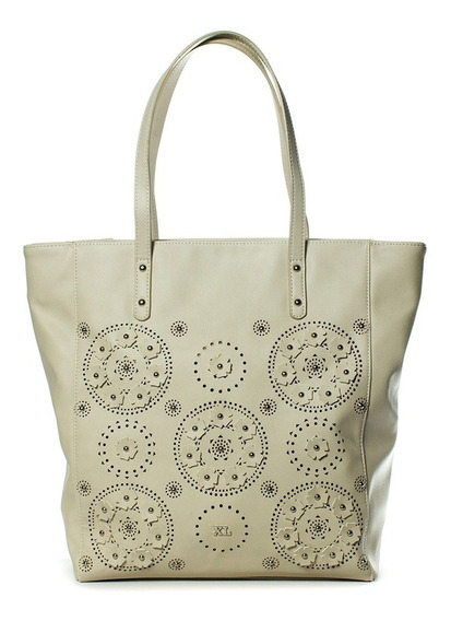 Brynn Tote Beige Cartera Xl Extra Large Mujer