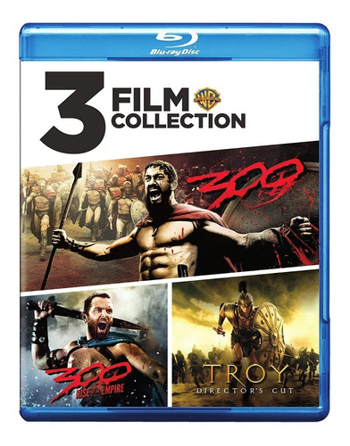 Blu-ray 300 + 300 Rise Of An Empire + Troya / 3 Films
