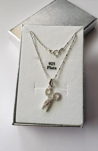 Colgante Amuleto Tijeras Para Cortar Las Malas Vibras, Plata