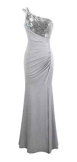 Elegante Vestido De Fiesta, Largo