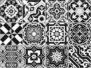 The Nisha Tile Art Magic Vinilo Adhesivo De Pared Extraíble