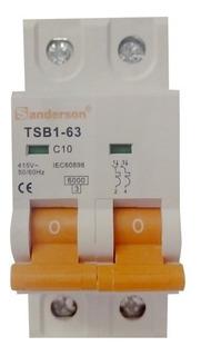 Llave Termica Termomagnetica Bipolar 2x10 Amp Iram A