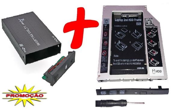 Kit Caddy Leitor Hd 3,5 Sata Usb Uso Em Consoles Pc Notebook