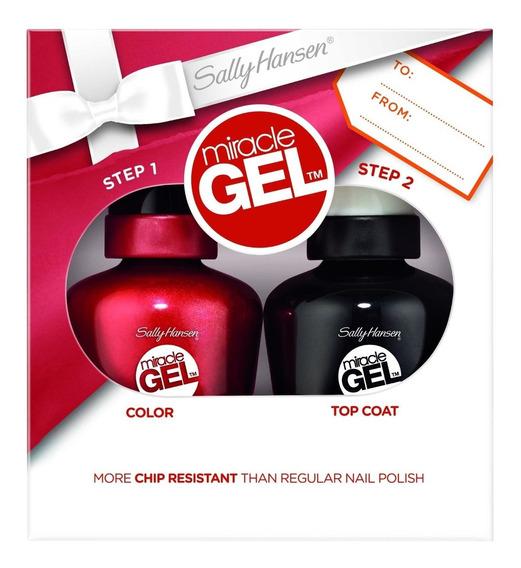 Pack Sally Hansen Esmalte Efecto Gel + Top Coat