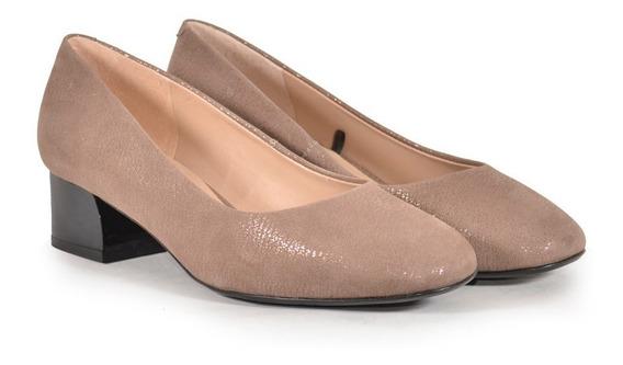 Zapatos De Cuero Vacuno De Mujer Vison Austrolita - Ferraro