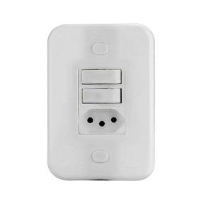 Kit 20 Conjunto 4x2 Interruptor 2ts+tomada 20a Emb Branca
