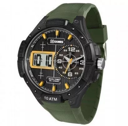 Relógio Masculino X-games/ Verde Militar A Pronta Entrega