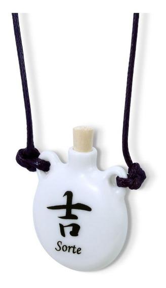 Colar Difusor Aromaterapia Pessoal Ou Porta Perfume Sorte