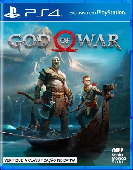 God Of War 4 Playstation 4 Mídia Digital Primária Vitalício