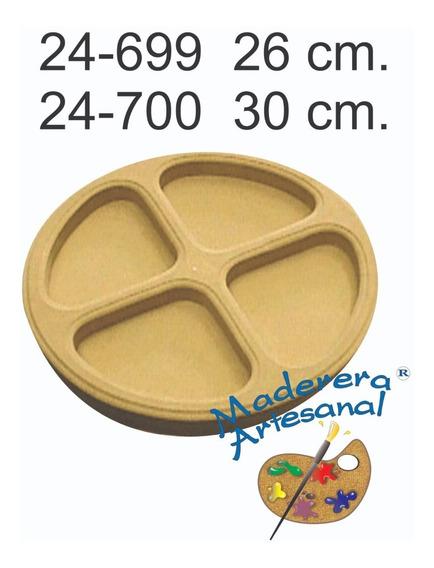 Tabla Plato Copetinero Fibrofacil En 30 Cm Picadas Entradas