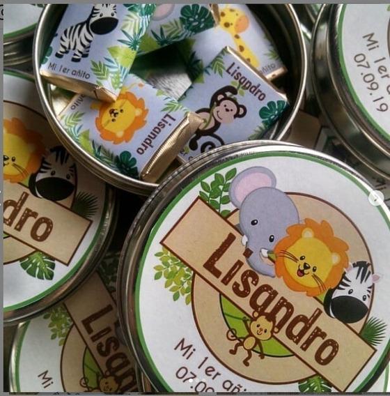 15 Latitas Pastilleras Con 5 Chocolates Personalizados