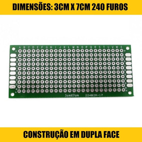 Kit 03 Placas Circuitos Impressos Pcb Protótipo *3cm X 7cm*