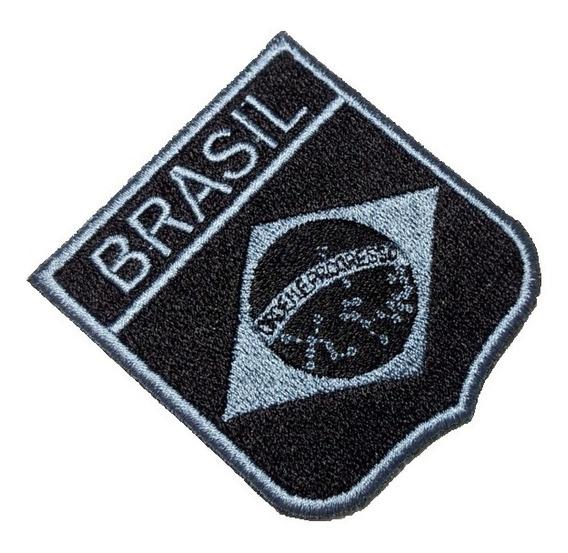 Bandeira Brasil Bebr005 Patch Bordado Para Uniforme Jaqueta