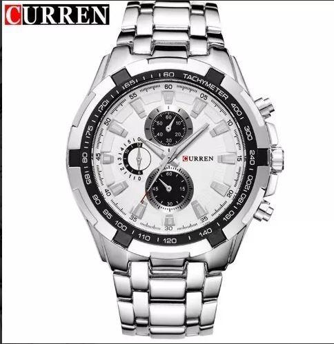 Relógio Masculino Curren Pulseira Aço 8023