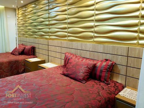 Imagem 1 de 30 de Apartamento Com 3 Dormitórios À Venda, 149 M² Por R$ 1.290.000,00 - Canto Do Forte - Praia Grande/sp - Ap2298